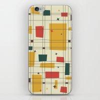 mid century iPhone & iPod Skins featuring Mid-Century Modern by Studio Fibonacci