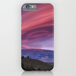 Lenticular Clouds At Sunset. Sierra Nevada. Caballo Mountain. 3.009 Meters iPhone Case