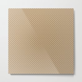 Tan Brown Scales Pattern Metal Print