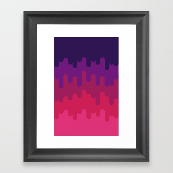Drips and Drops - Pink Framed Art Print