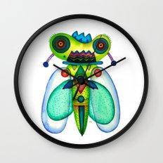 Dragonfly Moth Wall Clock