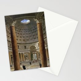 Giovanni Paolo Panini  -  The Interior Of The Pantheon  Rome Stationery Cards