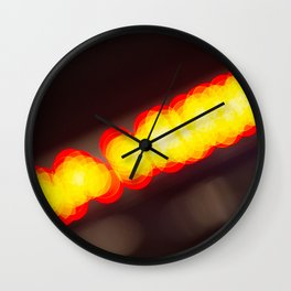 Orange Lights Wall Clock