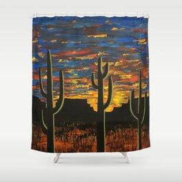 Brilliant Southwest Sunset Shower Curtain