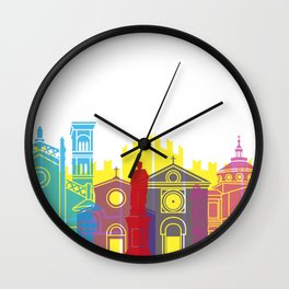 Prato skyline pop Wall Clock