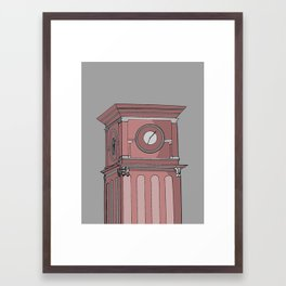 WSU Clock Tower Framed Art Print