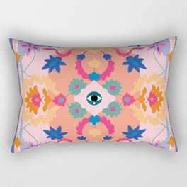 Eye Rug Rectangular Pillow