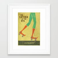 catcher in the rye Framed Art Prints featuring the catcher in the rye by randy mckee