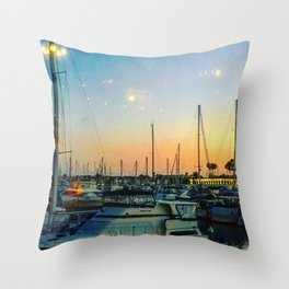 Boats at Sunset -Ava Photography Throw Pillow