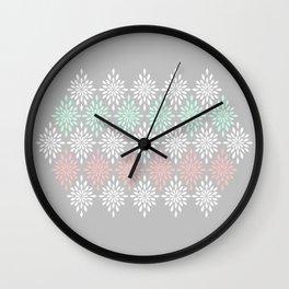 Abstract Mums  Wall Clock