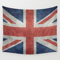 union jack Wall Tapestries featuring Union Jack  (3:5 Version) by Bruce Stanfield