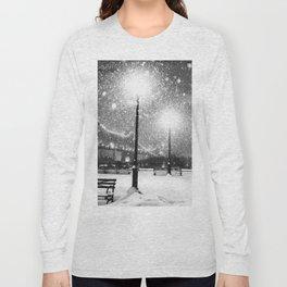 New York City Night Snow Long Sleeve T-shirt