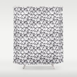 Penguin pattern Shower Curtain