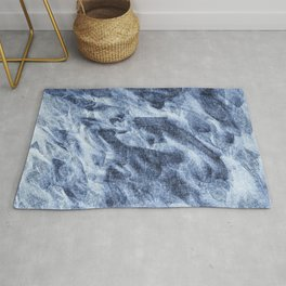 Sci-fi abstract blue pattern Rug