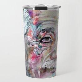 ALBERT EINSTEIN - watercolor portrait.5 Travel Mug