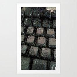 Grunge Keyboard Art Print