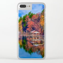 Autumn on the Lake Clear iPhone Case
