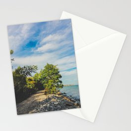 Summer walks by the lake Stationery Cards