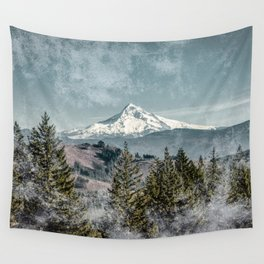 Frosty Mountain - Nature Photography Wall Tapestry
