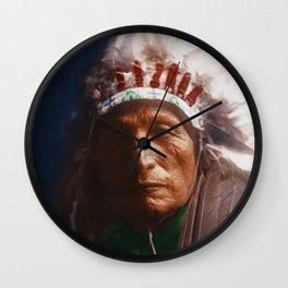 Eagle Elk (He Xa Wan ba li) - Oglala - American Indian Wall Clock