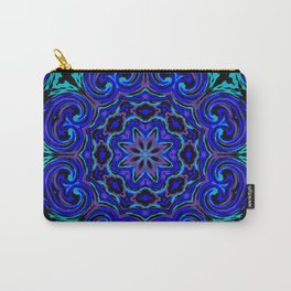 Bright Blue Kaleidoscope Carry-All Pouch