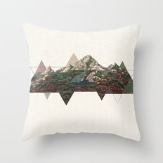 This mountain light Throw Pillow