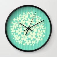 hawaiian Wall Clocks featuring Hawaiian Blue  by Endless Summer