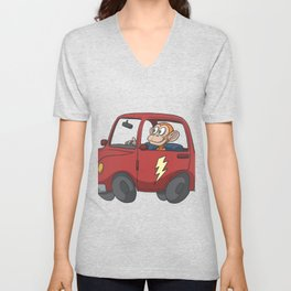 Electric car Unisex V-Neck