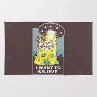i want to believe Area & Throw Rugs featuring i want to believe by Tatyana Soynikova