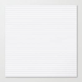 Soft Grey Mattress Ticking Narrow Striped Pattern - Fall Fashion 2018 Canvas Print