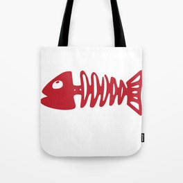 Valentines TShirt Fish Bone Tote Bag