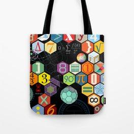 Math in color Black B Tote Bag