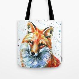 FOX 2 watercolor Tote Bag