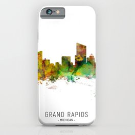 Grand Rapids Michigan Skyline iPhone Case