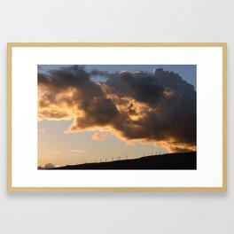 lahaina pali sunset Framed Art Print