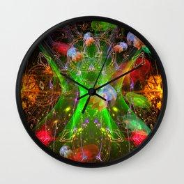 Bioluminescent Plankton and Jellyfish Wall Clock