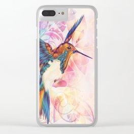 Hummingbirds Return Clear iPhone Case