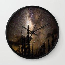 Mountain Milky Way Wall Clock