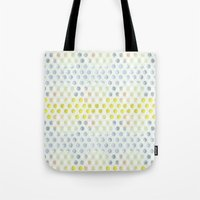 polka dots Tote Bags featuring Polka dots by Selkiesong