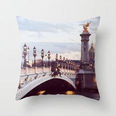 Pont Alexandre III Paris. Throw Pillow
