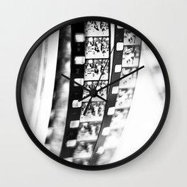 film BW Wall Clock