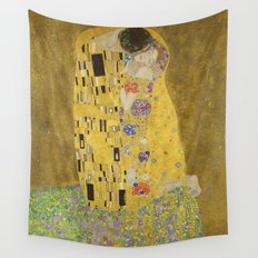 The Kiss by Gustav Klimt Wall Tapestry