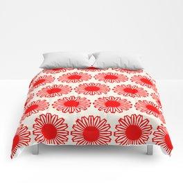 vintage flowers red Comforters