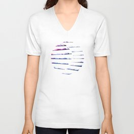 α White Crateris Unisex V-Neck