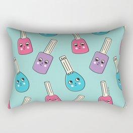Happy Nail Polish Rectangular Pillow