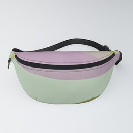 Geometric Shapes #8 Purple and Green Fanny Pack