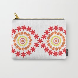 Warm Colors Infinity Flowers Carry-All Pouch
