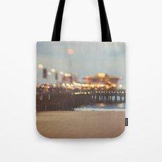 Beach Candy. Santa Monica pier photograph Tote Bag