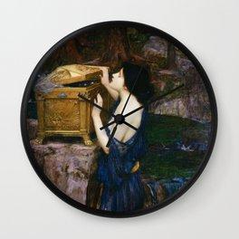PANDORAS BOX - JOHN WILLIAM WATERHOUSE  Wall Clock
