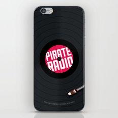 Pirate Radio poster (black) iPhone & iPod Skin